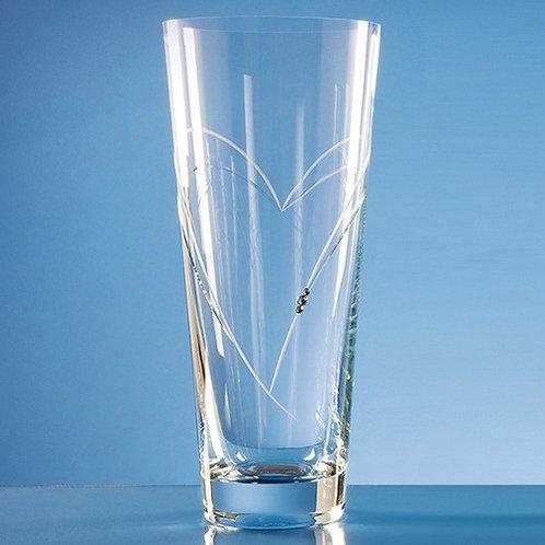 Heart Shape Cutting Vase | Swarovski Elements | 300mm | Free Engraving
