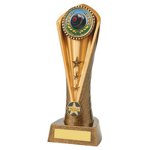 Antique Gold Lawn Bowls Cobra Trophy - 230mm