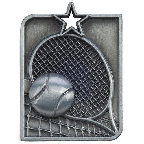Centurion Star Series Tennis Medal Silver - 53x40mm
