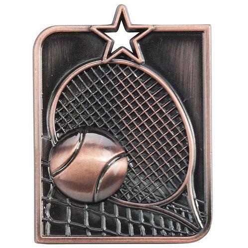 Centurion Star Series Tennis Medal Bronze - 53x40mm