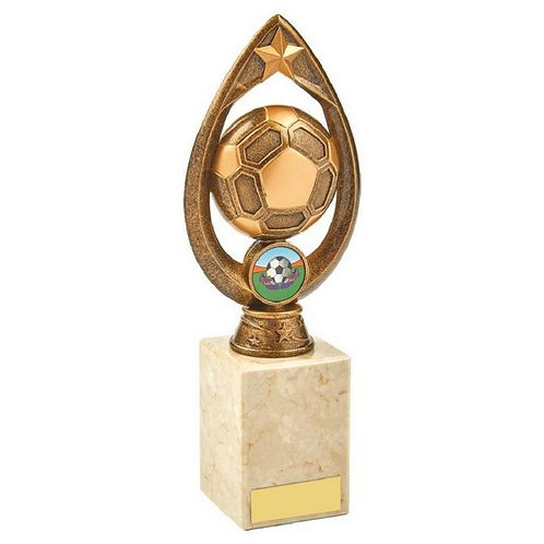 Antique Gold Football Trophy - 225mm