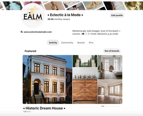 Eclectic à la Mode (personal blog) Pinterest Curation https://www.pinterest.com/eclecticalamode/