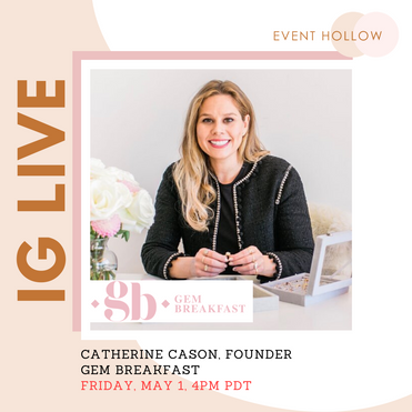 PR & Content - Founder to Founder Friday Q&A on IG Live - Event Hollow