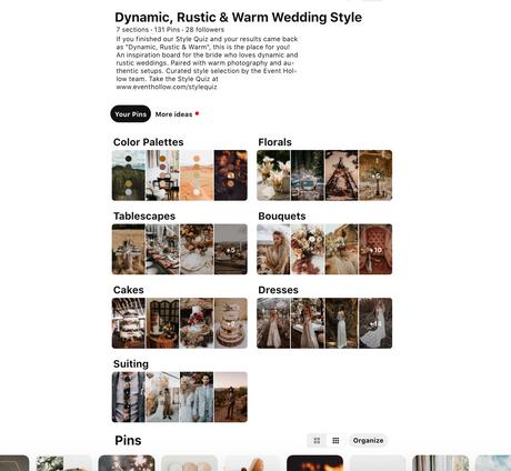 Pinterest Content Optimization - Event Hollow