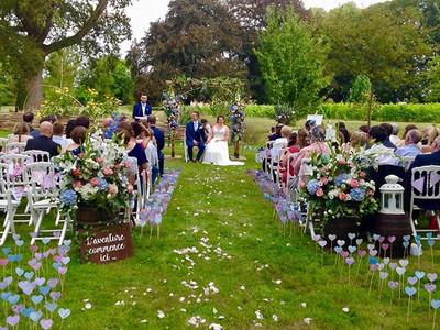 #chateaudesclos #gardenwedding #ceremoni