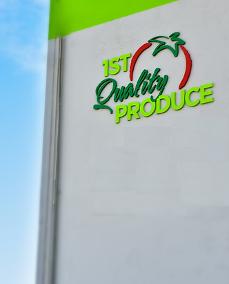 1st quality produce, building, logo,