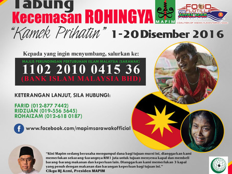 MAPIM Lancar Kempen Rohingya di Bumi Borneo
