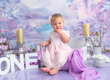 Princess in the Castle themed cake smash session | Moncton first birthday photographer