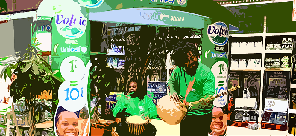 animation in store volvic unicef