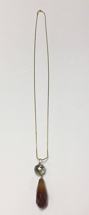 Crystal/Stone Long Necklace