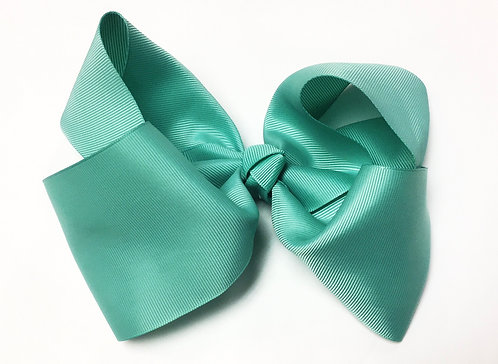 Large Dark Mint Hair Bow 7""