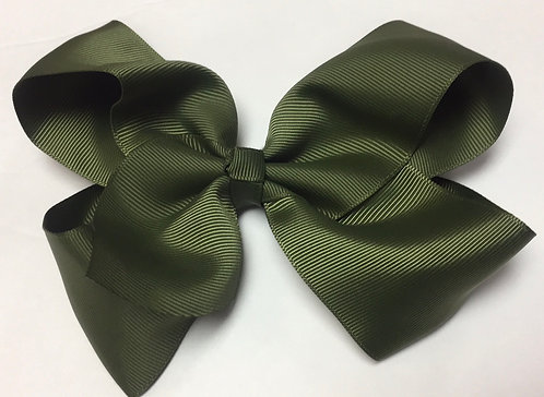 Medium Light Olive Hair Bow 5""