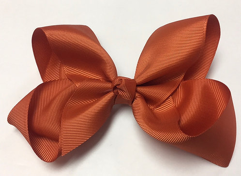 """Medium Burnt Orange Hair Bow 5"""""""