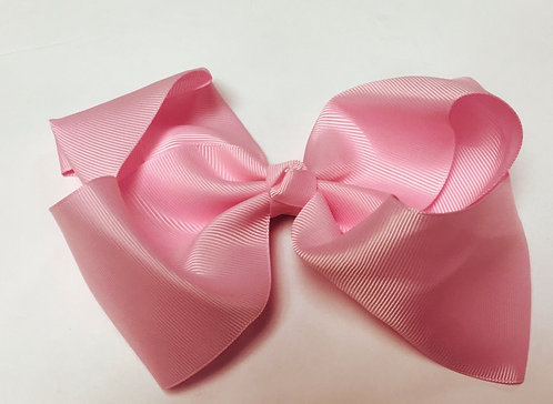 Large Light Pink Hair Bow 7""