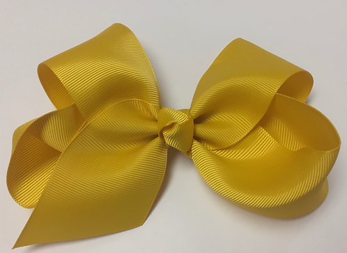 "Medium Dark Yellow Hair Bow 5"""