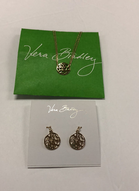 Vera Bradley necklace and earrings set