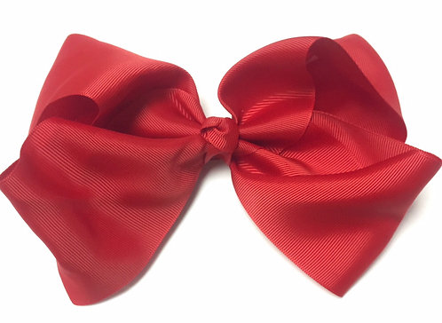 """Large Red Hair Bow 7"""""""