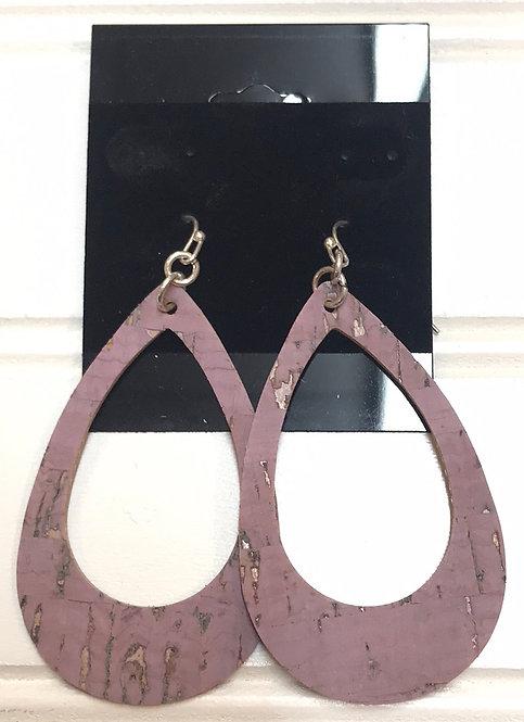 Lavender Hollow Teardrop Earrings