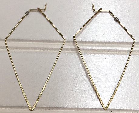 Gold Hollow Earrings