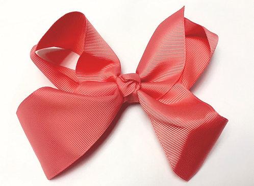"""Medium Peachy Pink Hair Bow 5"""""""