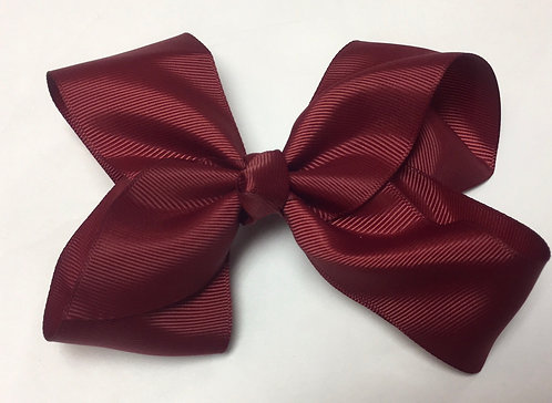 Medium Brick Red Hair Bow 5""