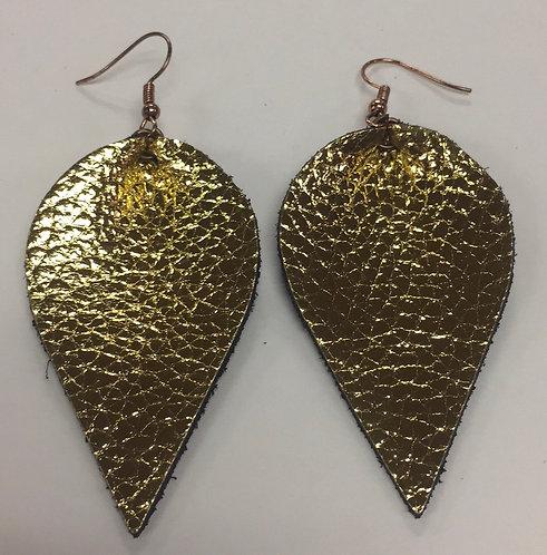 Bronze Leather Earrings