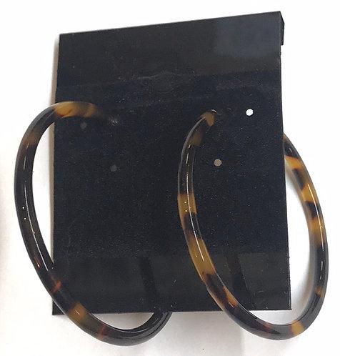 Tortoise Shell Acrylic Hoop Earrings