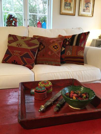 Kelimpuder af vintage tæpper