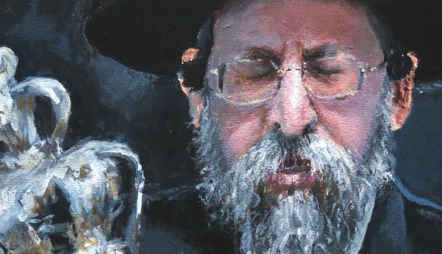 Boyaner Rebbe close-up