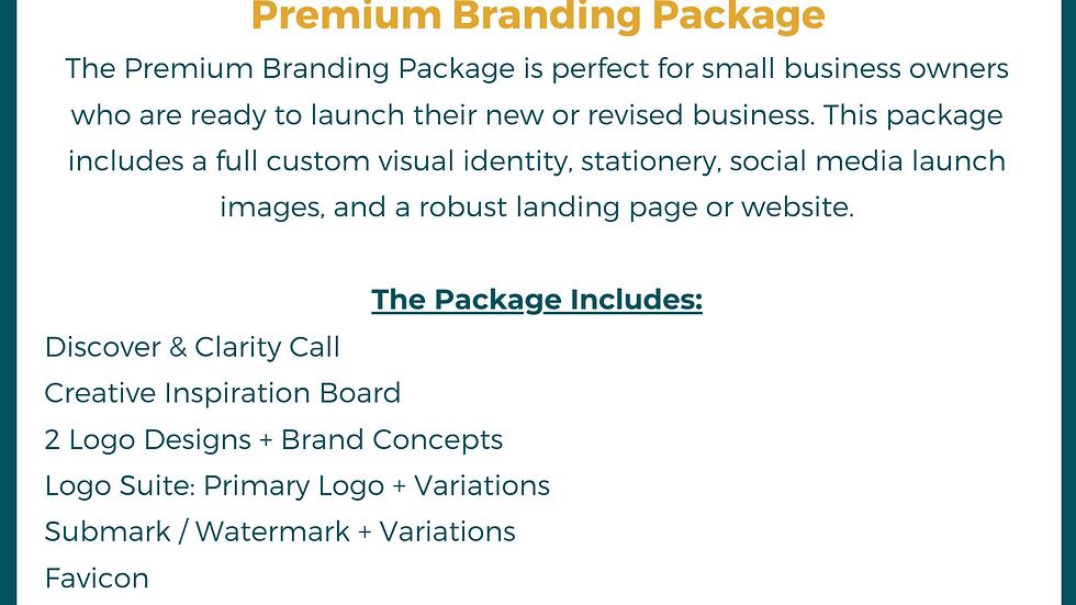 Premium Branding & Landing Page Package