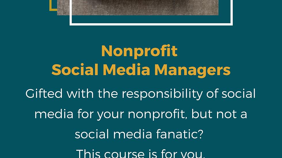 Nonprofit  Social Media Manager Course