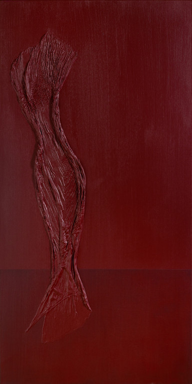 Figure in Red with Dark Base