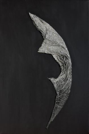 Figure in Silver on Payne's Grey