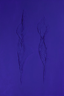 Figures in Ultramarine Blue