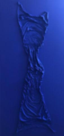 Figure in Yves Klein Blue 02
