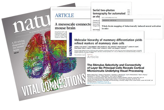 TissueVision publications nature mouse connectome
