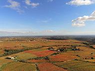 vue en drone du Beaujolais
