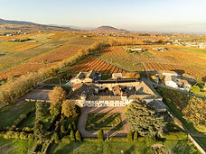 chateau vignoble en Beaujolais en drone