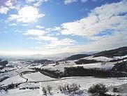 Beaujolais hiver en drone