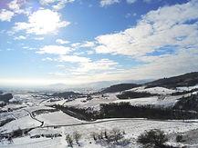 beaujolais en hiver par drone