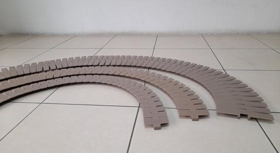Banda transportadora de tablillas difere