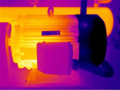 Termografia infrarroja de un motor