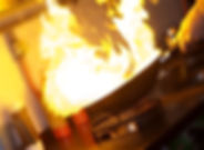 Chef Making Flambe