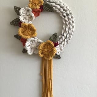 Poppy Flowers Wreath