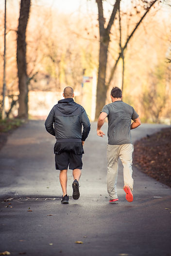 Personal training running outside