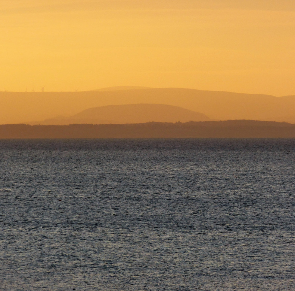 Across to the Lothian Hills.