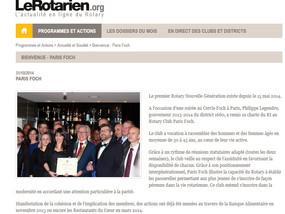Un article sur le club à lire sur Le Rotarien