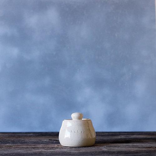 Bright Speckled Salt Jar