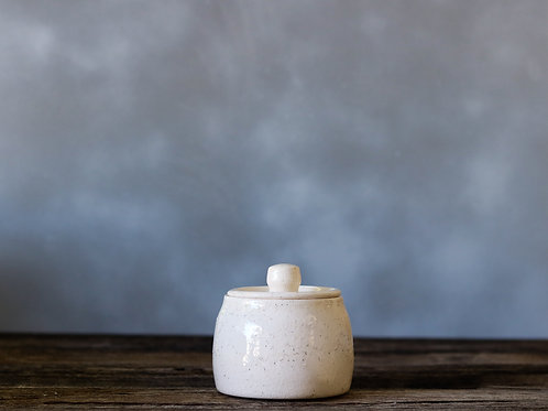 Bright Sand Jar w/ Lid