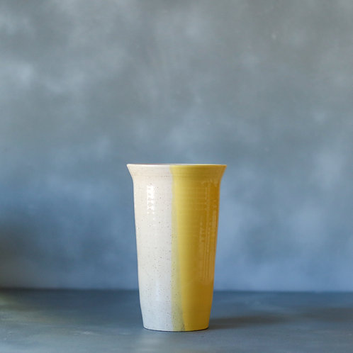 Yellow Crush Vase